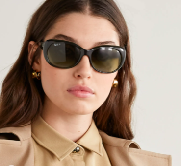 Ray-Ban round-frame tortoiseshell acetate sunglasses, 50% off, US$82.06/ Approx. SGD114 (was US$164.11). PHOTO: NET-A-PORTER