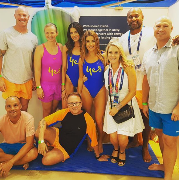 The 39-year-old posted this group shot after their lilo race took place. Source: Instagram/adanicodemou