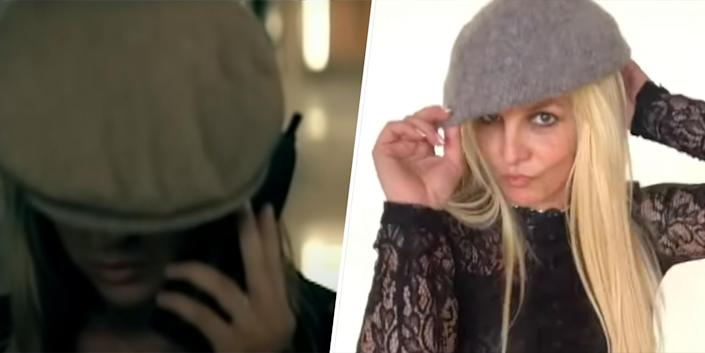 Seeing double? On the left, a Britney look-alike from Justin Timberlake's