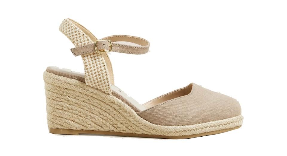 Wide Fit Canvas Wedge Espadrilles