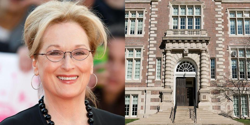 """<p><strong>Vassar College </strong></p><p>Although Streep was involved in several of her high school's plays, she was uninterested in serious theatre until acting in the play <em>Miss Julie</em> while at Vassar College. <span class=""""redactor-invisible-space"""">She also received an Honorary Doctor of Arts degree<span class=""""redactor-invisible-space""""> at Dartmouth College, and her Master of Fine Arts from the Yale School of Drama.</span></span></p>"""