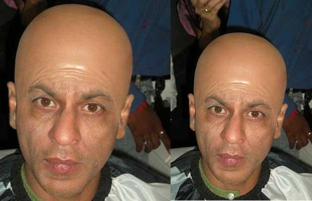 Bald and wrinkled look.