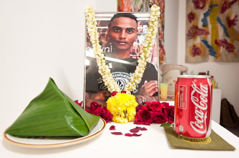 Dinesh's family were still seeking answers at his memorial on Saturday. (Photo: Shelley Thio)