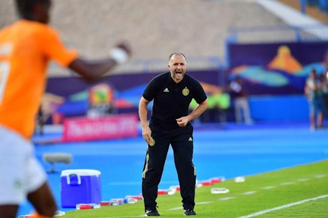 Djamel Belmadi has Algeria within sight of a second Africa Cup of Nations triumph (AFP Photo/Giuseppe CACACE)