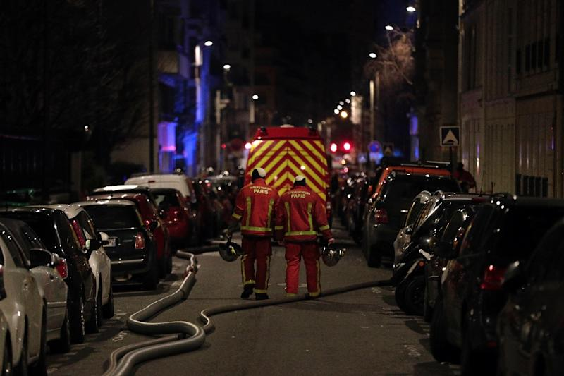 The blaze in the French capital's trendy 16th arrondissement also left 27 people - including three firefighters - with minor injuries (AFP Photo/Geoffroy VAN DER HASSELT)