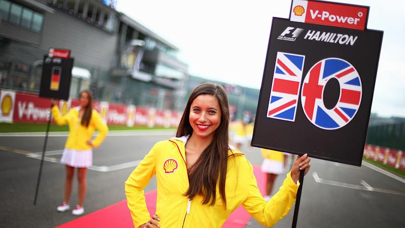 Lewis Hamilton was slammed over a social media post about the return of grid girls.