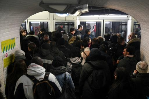 In Paris, only half of the 16 metro lines were running Wednesday, with most of the rest offering limited services