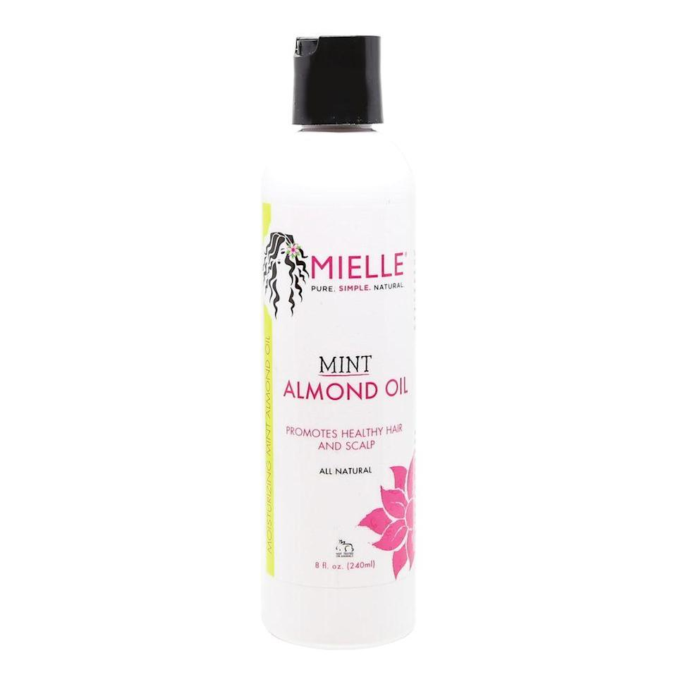 """<strong><h2>Finish </h2></strong> <br><h2><h3>Mielle Organics Mint Almond Oil</h3></h2><br>On days when I want to give my hair extra sheen (or if my scalp feels dry), I turn to this oil. For starters, it smells amazing, and I'm guilty of using it on my body occasionally. But I love it because it gives my hair a noticeable shine without making it stiff and greasy.<br><br><strong>Mielle Organics</strong> Mint Almond Oil, $, available at <a href=""""https://go.skimresources.com/?id=30283X879131&url=https%3A%2F%2Fmielleorganics.com%2Fproducts%2Fmint-almond-oil"""" rel=""""nofollow noopener"""" target=""""_blank"""" data-ylk=""""slk:Mielle Organics"""" class=""""link rapid-noclick-resp"""">Mielle Organics</a><br><br>"""