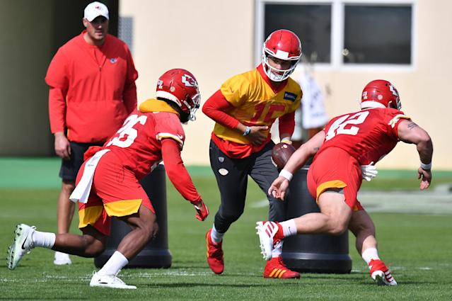 NFL minicamps could still take place in June, and NFL head coaches could return to team facilities next week, sources tell Yahoo Sports. (Photo by Mark Brown/Getty Images)