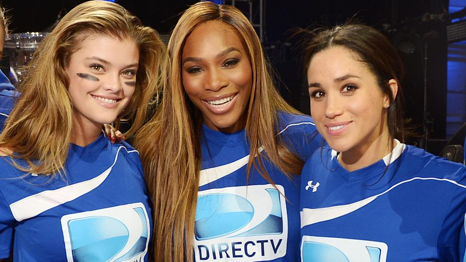 Serena Williams and Meghan Markle, pictured here at the the DirecTV Beach Bowl in 2014.