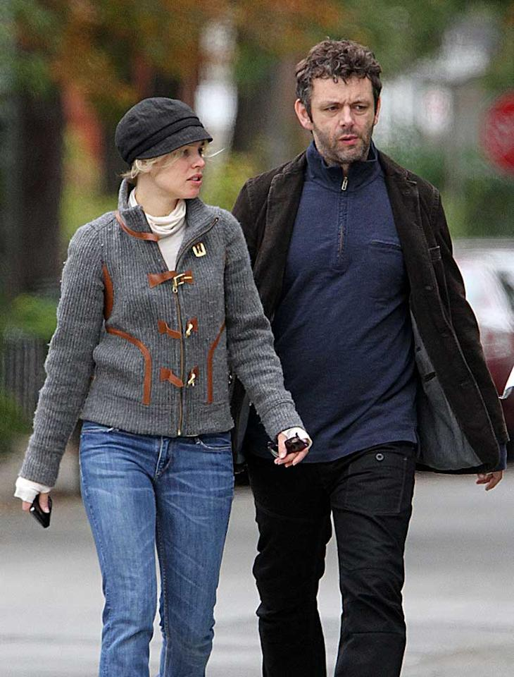 "Rachel McAdams and British actor Michael Sheen made their first public debut as a couple Sunday when they were spotted holding hands during a stroll in McAdam's hometown of Toronto, Canada. The pair, who both star in the upcoming romantic comedy ""Midnight in Paris,"" were spied making out at the Toronto Film Festival in September, but have kept their romance very low-key since. O'Neill/White/<a href=""http://www.infdaily.com"" target=""new"">INFDaily.com</a> - October 3, 2010"