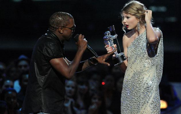 The infamous moment between Kanye and Taylor. Source: Getty