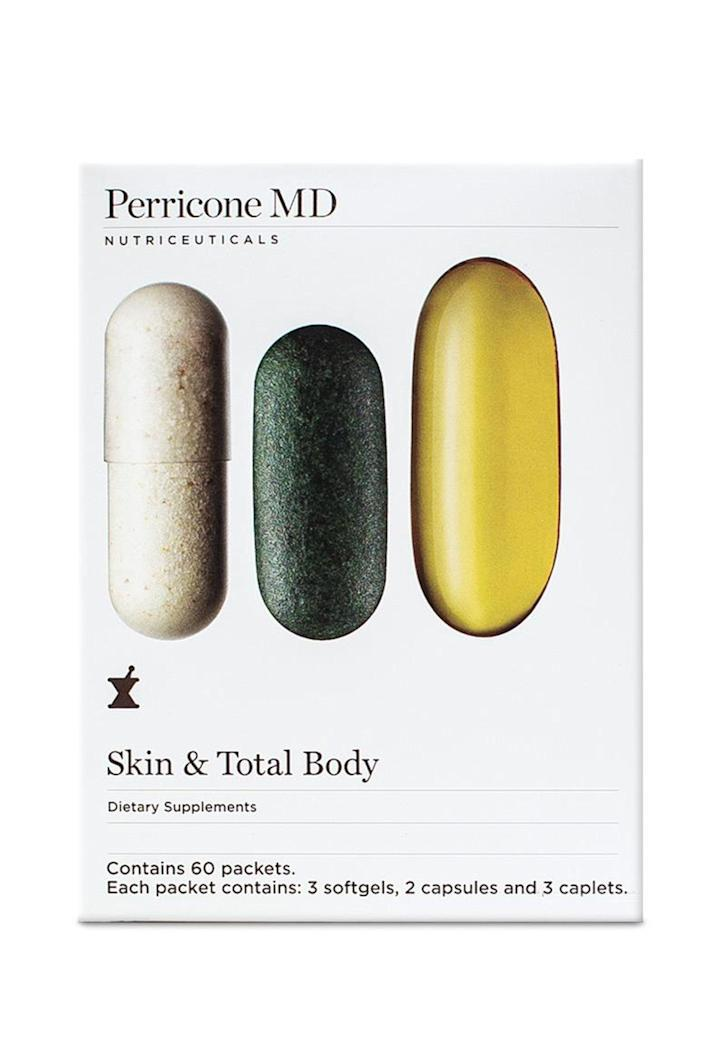 """<p>perriconemd.com</p><p><strong>$77.50</strong></p><p><a href=""""https://go.redirectingat.com?id=74968X1596630&url=https%3A%2F%2Fwww.perriconemd.com%2Fproducts%2Fskin-total-body-anti-aging-supplements-5901%3Fvariant%3D29926416875595%26gclid%3DCj0KCQiAqNPyBRCjARIsAKA-WFxYBiTFDkRZKVtEMF59RfX1lgaam68sdIXS-dKZ7OFvMxpTfWLcbR0aAlWcEALw_wcB&sref=https%3A%2F%2Fwww.elle.com%2Fbeauty%2Fg31099887%2Fbest-hair-growth-vitamins%2F"""" rel=""""nofollow noopener"""" target=""""_blank"""" data-ylk=""""slk:Shop Now"""" class=""""link rapid-noclick-resp"""">Shop Now</a></p><p>Cover all your wellness bases. Not only do these Perricone capsules nourish your hair, they also support skin, eyes, bones, and nails, while hero ingredients like astaxanthin, calcium and magnesium boost the immune system. </p>"""