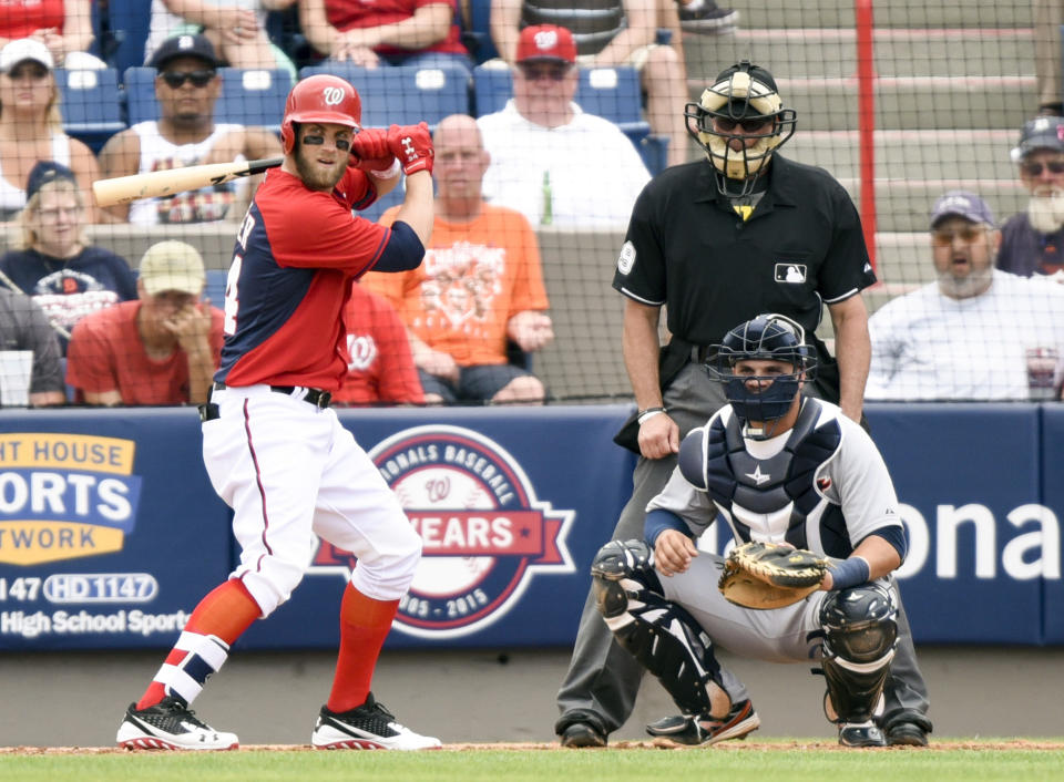 Bryce Harper, still only 22. We'll get a full season from him one of these years, right? (Brad Barr-USA TODAY Sports)