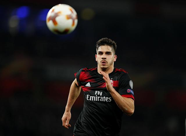Soccer Football - Europa League Round of 16 Second Leg - Arsenal vs AC Milan - Emirates Stadium, London, Britain - March 15, 2018 AC Milan's Andre Silva in action Action Images via Reuters/John Sibley