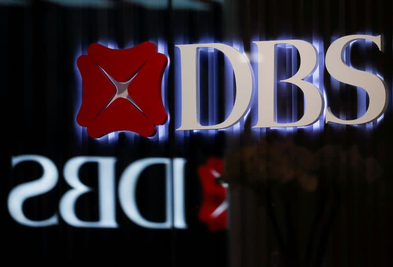 FILE PHOTO: DBS signages are seen in Singapore