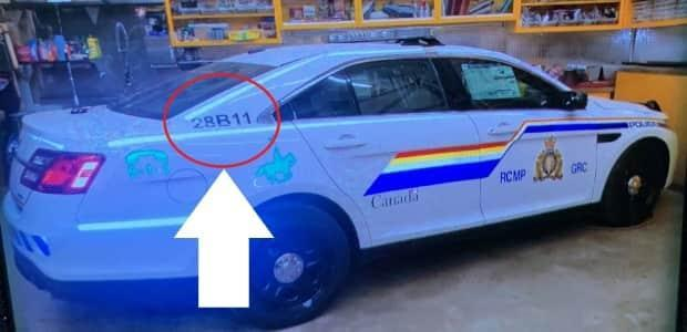 """Amid their manhunt on April 19, 2020, Nova Scotia RCMP tweeted this picture of the mock police vehicle used in the shootings. The tweet said """"There's one difference between (the suspect's) car and our RCMP vehicles: the car number."""""""