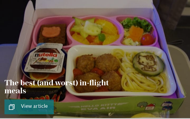 The best (and worst) in-flight meals