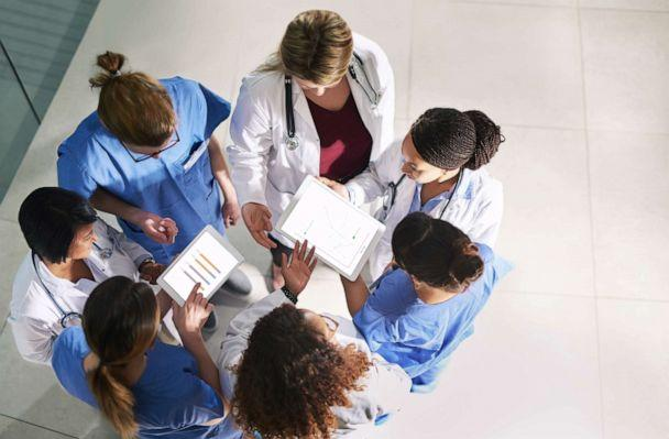 PHOTO: An undated stock photo shows a group of medical practitioners analyzing data in a hospital. (STOCK PHOTO/Getty Images)