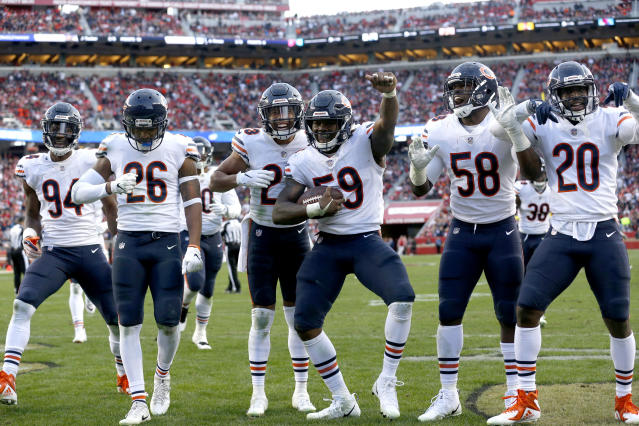 "Our experts rank the <a class=""link rapid-noclick-resp"" href=""/nfl/teams/chicago/"" data-ylk=""slk:Bears"">Bears</a> as the consensus No.1 fantasy defense. Mandatory Credit: Cary Edmondson-USA TODAY Sports"