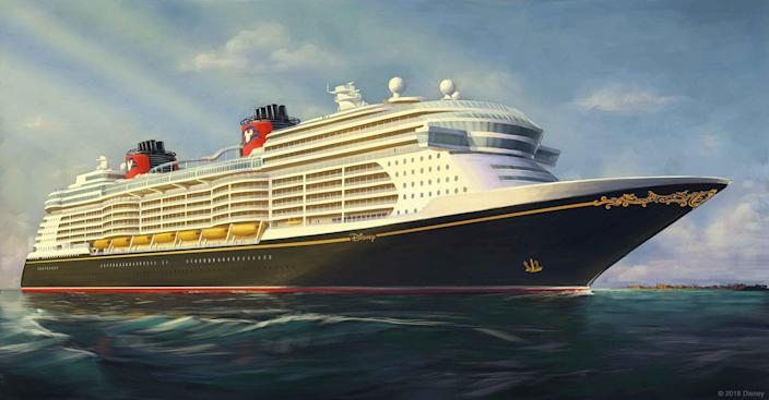 Artist rendering of the Disney Cruise Line's newest vessels, coming in 2021, 2022 and 2023.