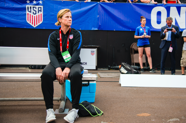 <p>Ellis, who is in her second year as head coach of the U.S. women's national soccer team, was an assistant during the team's gold medal run at the 2008 Games. She married Betsy Stephenson in 2013. (Getty) </p>