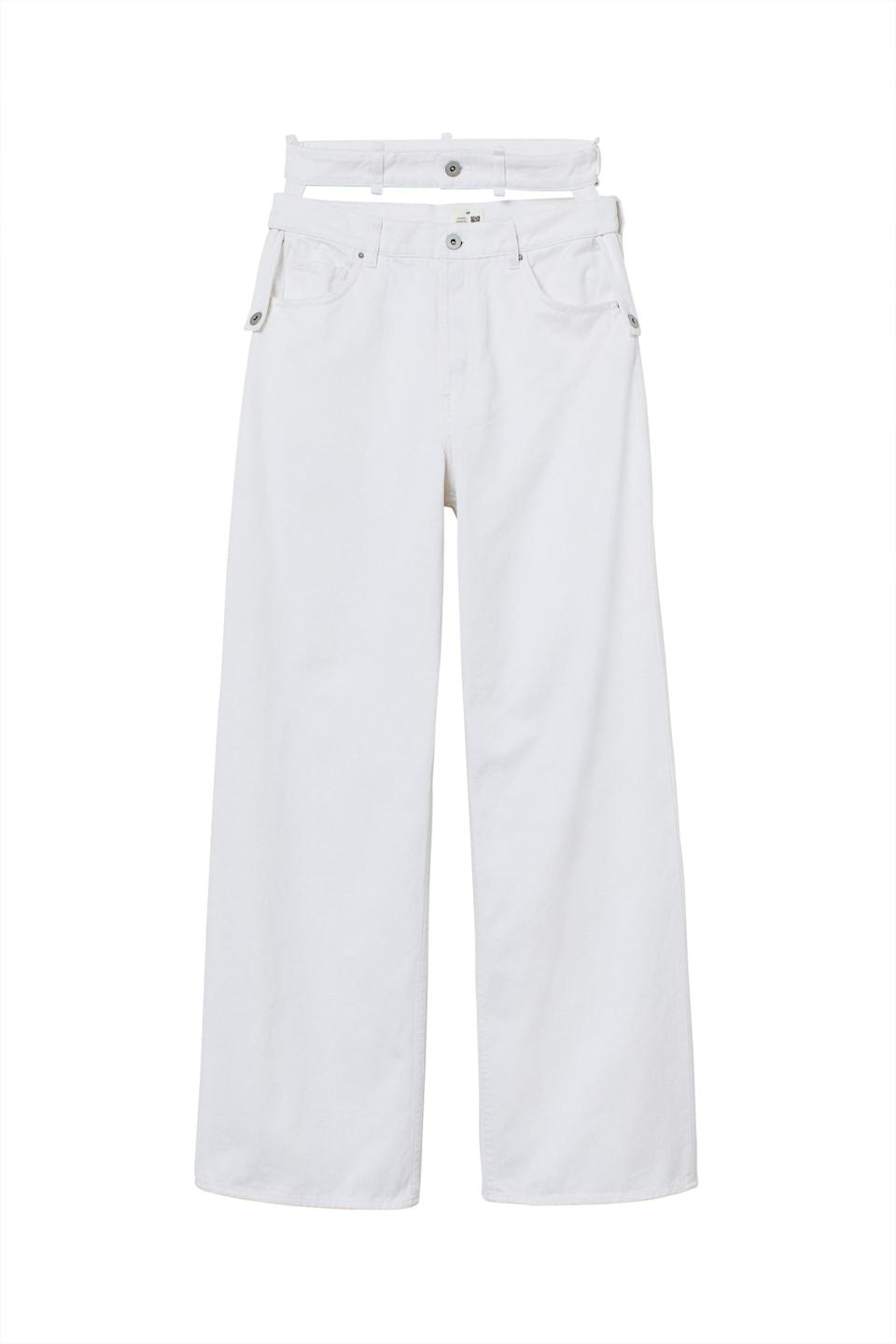 <p><span>H&amp;M Innovation Science Story Wide High Waist Jeans</span> ($70)</p>