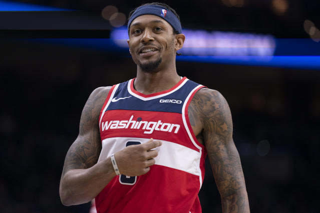 Bradley Beal is the bright light in Washington's dark season. (Mitchell Leff/Getty Images)