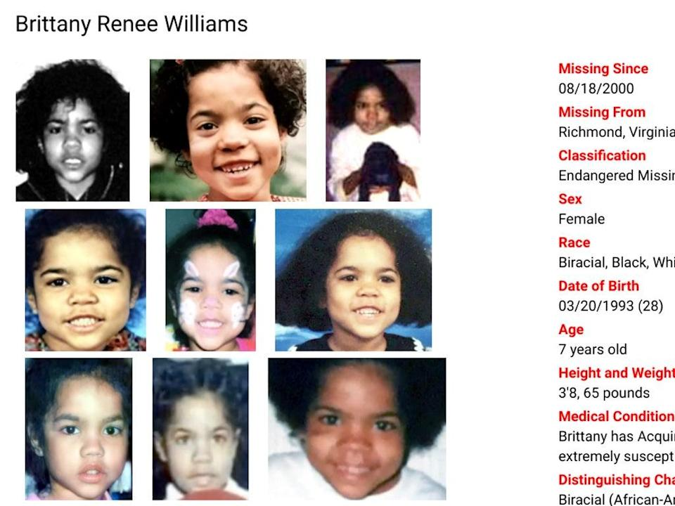 Imágenes de Brittany Renee Williams (charleyproject.org)