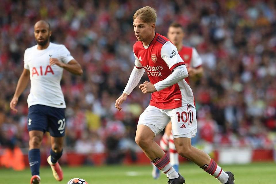 Emile Smith Rowe starred for Arsenal in their north London derby win (Arsenal FC via Getty Images)
