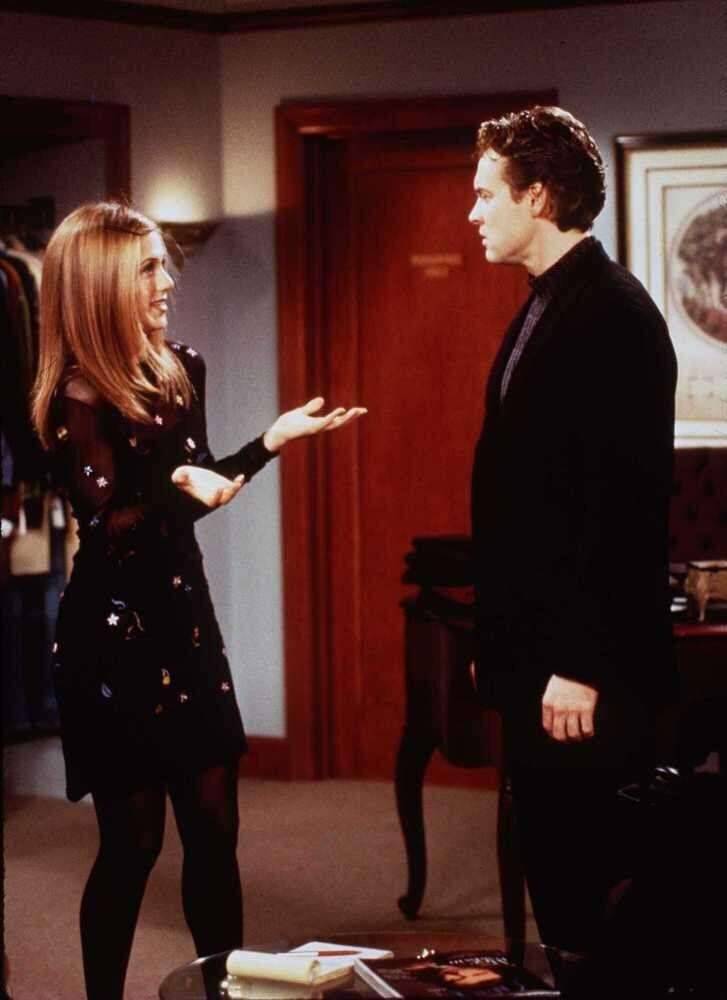 Jennifer Aniston and Tate Donovan in 'Friends' ('Rachel's Crush'). (1997)