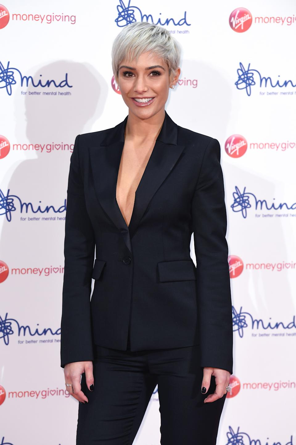 Frankie Bridge arriving at the Virgin Money Giving Mind Media Awards, Odeon Leicester Square, London. Photo credit should read: Doug Peters/EMPICS Entertainment