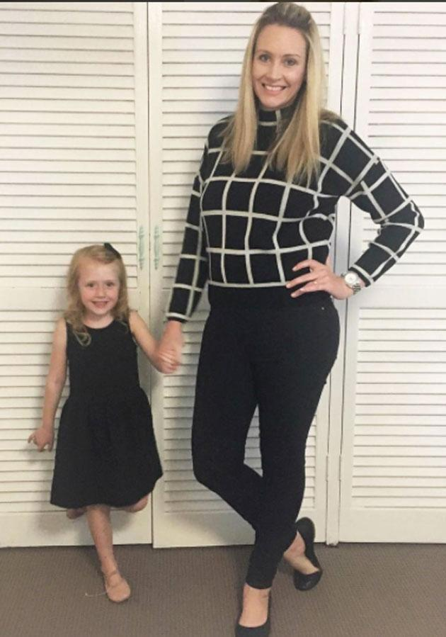 Bronwyn Brady is a mum of four from Brisbane who believes 'swaying' helped her to have her only daughter. Source: Supplied