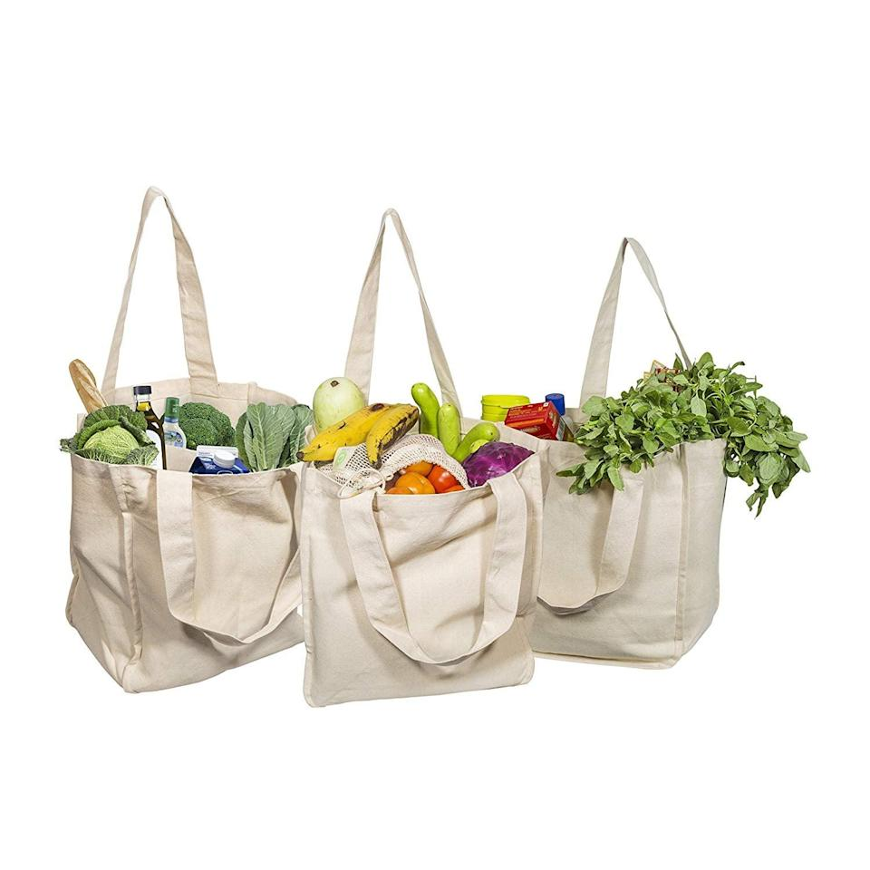<p>You never know when you'll need to restock on food, and the <span>Best Canvas Grocery Shopping Bags</span> ($30 for three) has pockets to make grocery shopping even easier. </p>