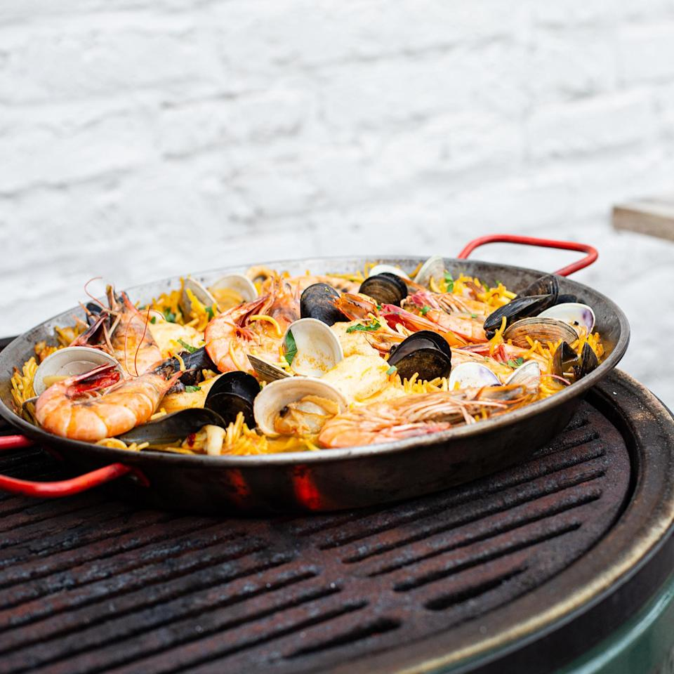 <p>The Costa Blanca, on Spain's Mediterranean coast, was ruled by the Romans for hundreds of years, and the mix of ingredients here reflects that Italian influence. Fideuà, a specialty of Valencia, is cooked like paella, but with pasta instead of rice. Look for Marine Stewardship Council certification or check SeafoodWatch.org to find sustainably sourced seafood.</p>