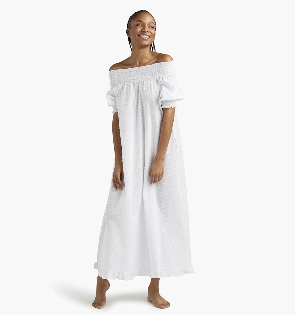 """<br><br><strong>Hill House Home</strong> The Caroline Nap Dress, $, available at <a href=""""https://go.skimresources.com/?id=30283X879131&url=https%3A%2F%2Fwww.hillhousehome.com%2Fproducts%2Fthe-caroline-nap-dress%3Fvariant%3D31451657109547%23Image16817683922987"""" rel=""""nofollow noopener"""" target=""""_blank"""" data-ylk=""""slk:Hill House Home"""" class=""""link rapid-noclick-resp"""">Hill House Home</a>"""
