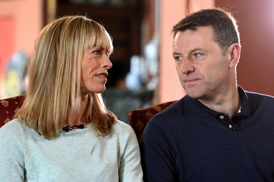 Kate and Gerry McCann, whose daughter Madeleine disappeared from a holiday flat in Portugal ten years ago, speak during an interview with the BBC's Fiona Bruce at Prestwold Hall in Loughborough, Britain April 28, 2017.   Photograph taken April 28, 2017.   REUTERS/Joe Giddens/Pool     TPX IMAGES OF THE DAY