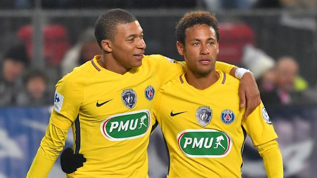 Despite PSG sitting well clear at the top of Ligue 1, striker Kylian Mbappe says the club's strikeforce will go from strengh to strength.