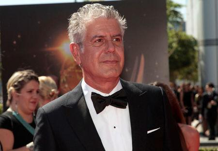 Anthony Bourdain arrives at the 65th Primetime Creative Arts Emmy Awards in Los Angeles, September 15.    REUTERS/Jonathan Alcorn