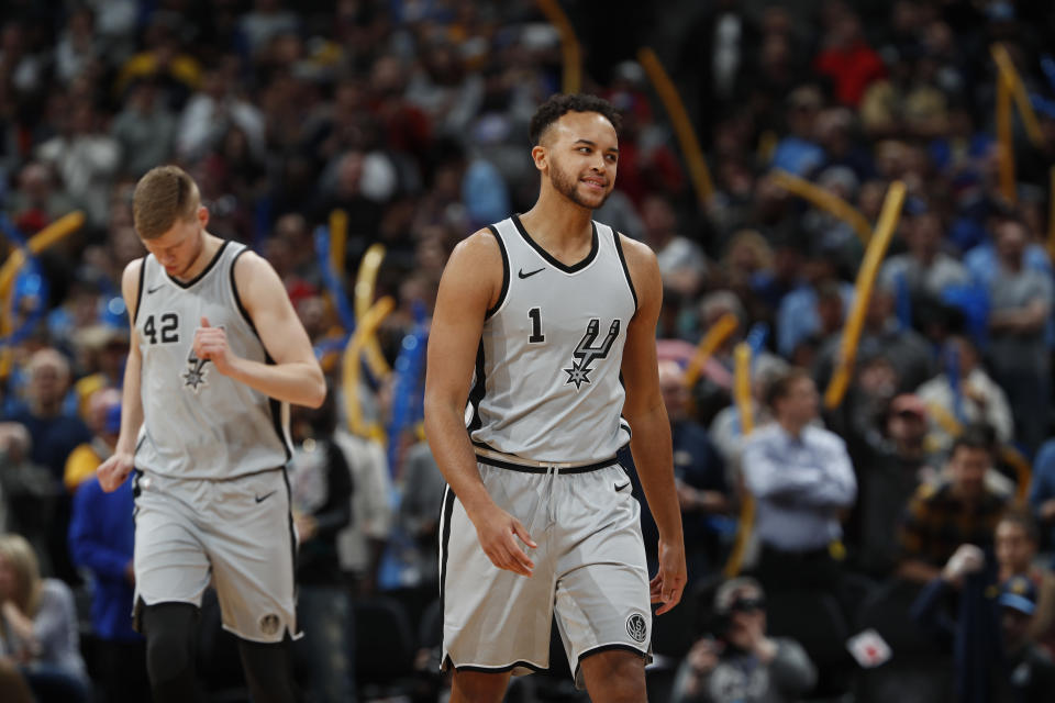 """San Antonio Spurs forward <a class=""""link rapid-noclick-resp"""" href=""""/nba/players/5341/"""" data-ylk=""""slk:Kyle Anderson"""">Kyle Anderson</a> can be a quality addition to most fantasy benches. (AP Photo/David Zalubowski)"""