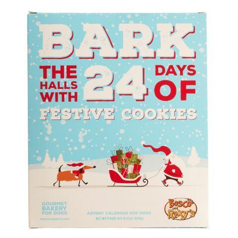 "<h3><a href=""https://www.worldmarket.com/product/bosco+%26+roxy%27s+bark+the+halls+dog+treat+advent+calendar.do"" rel=""nofollow noopener"" target=""_blank"" data-ylk=""slk:Bosco & Roxy's Bark The Halls Dog Treat Advent Calendar"" class=""link rapid-noclick-resp"">Bosco & Roxy's Bark The Halls Dog Treat Advent Calendar</a></h3><br>You didn't forget about Fido, right? Get your furry friend in the festive spirit with a dog biscuit-filled advent calendar. <br><br><strong>Bosco & Roxy's</strong> Bark the Halls Dog Treat Advent Calendar, $, available at <a href=""https://go.skimresources.com/?id=30283X879131&url=https%3A%2F%2Fwww.worldmarket.com%2Fproduct%2Fbosco%2B%2526%2Broxy%2527s%2Bbark%2Bthe%2Bhalls%2Bdog%2Btreat%2Badvent%2Bcalendar.do"" rel=""nofollow noopener"" target=""_blank"" data-ylk=""slk:World Market"" class=""link rapid-noclick-resp"">World Market</a>"