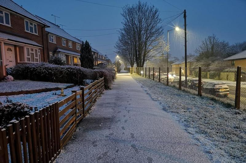 Flurries of snow fell in Reading (Jason Collie)