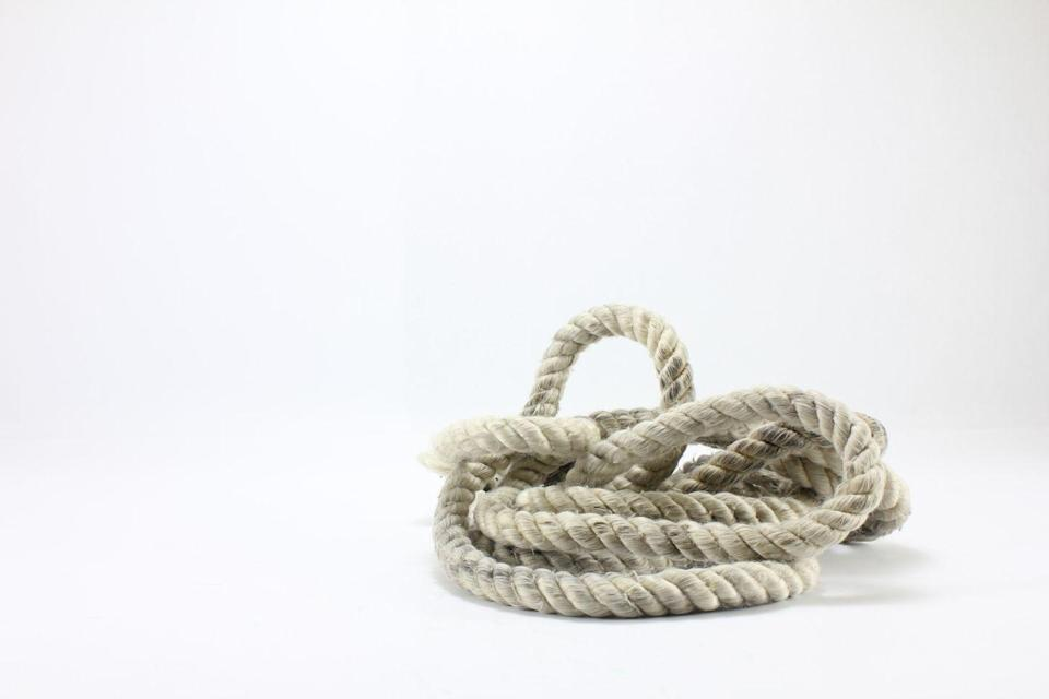 "<p>Head to the garage and grab that rope you have lying around. Ideally, measure about eight feet of rope. Tie a knot at both ends, find a sturdy tree branch in the yard, and sling one end of the rope over it. Use the rope to execute moves such as inverted rows or squats or make two loops at the ends to place your feet in for TRX-style <a href=""https://www.runnersworld.com/training/a28197735/how-to-do-a-plank/"" rel=""nofollow noopener"" target=""_blank"" data-ylk=""slk:planks"" class=""link rapid-noclick-resp"">planks</a> or <a href=""https://www.runnersworld.com/training/a20855255/9-strength-moves-that-will-upgrade-your-running/"" rel=""nofollow noopener"" target=""_blank"" data-ylk=""slk:lunges"" class=""link rapid-noclick-resp"">lunges</a>.</p>"