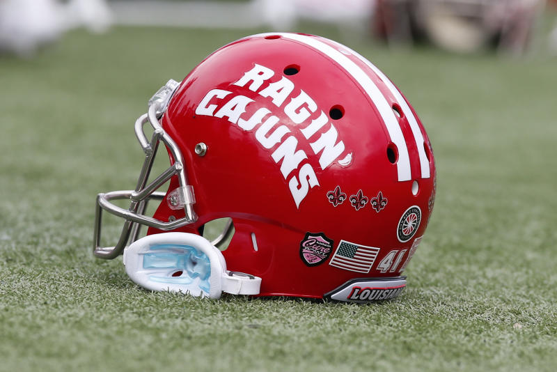 ORLANDO, FL - DECEMBER 15: A general view of a Louisiana Ragin Cajuns helmet during the game between the Louisiana Ragin' Cajuns and the Tulane Green Wave on December 15, 2018 at Camping World Stadium in Orlando, Fl. (Photo by David Rosenblum/Icon Sportswire via Getty Images)