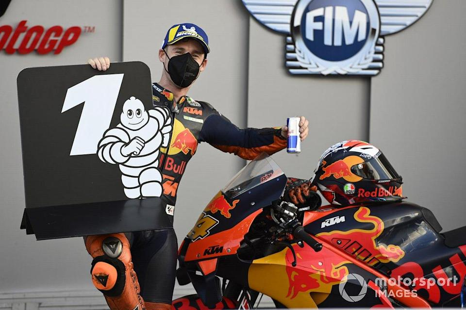 "Polesitter Pol Espargaro, Red Bull KTM Factory Racing<span class=""copyright"">Gold and Goose / Motorsport Images</span>"