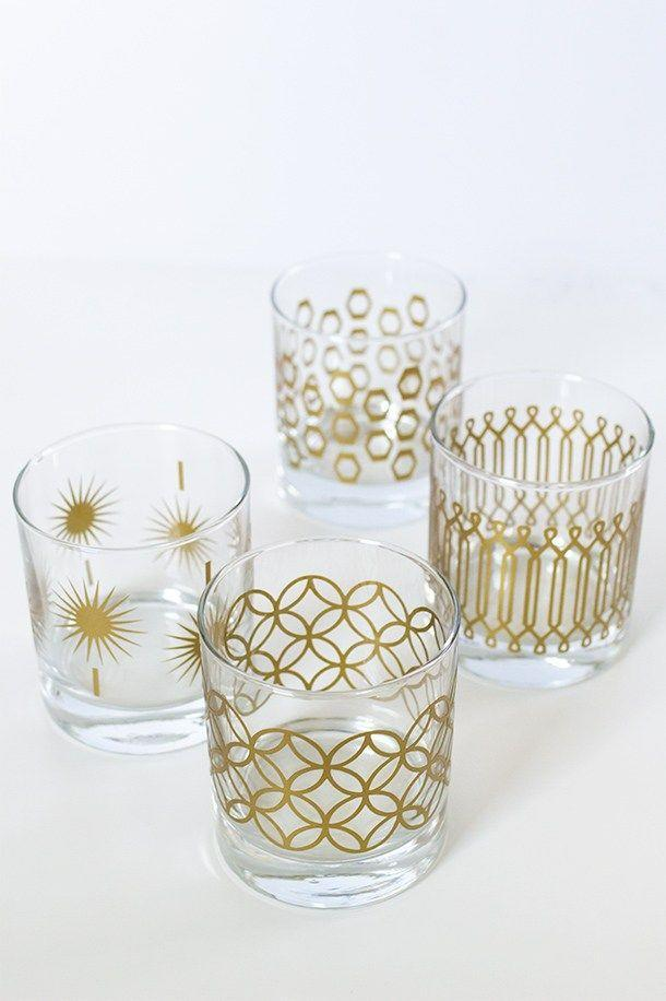 "<p>Add some glam to her kitchen with these DIY metallic glasses. </p><p><strong>Get the tutorial at <a href=""https://sarahhearts.com/diy-metallic-print-glassware/"" rel=""nofollow noopener"" target=""_blank"" data-ylk=""slk:Sarah Hearts"" class=""link rapid-noclick-resp"">Sarah Hearts</a>. </strong></p>"