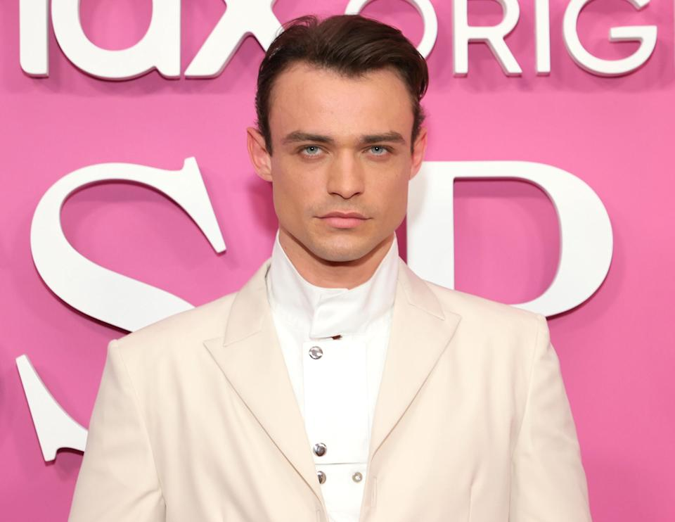 """Thomas Doherty attends the """"Gossip Girl"""" New York Premiere at Spring Studios on June 30, 2021 in New York City"""