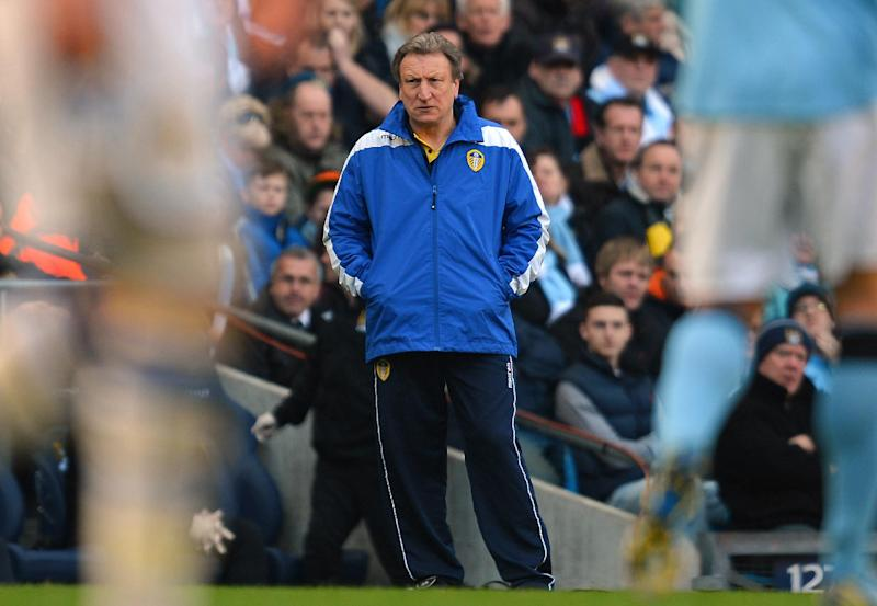 A file picture taken on February 17, 2013 shows then Leeds United manager Neil Warnock at an FA Cup football match in Manchester