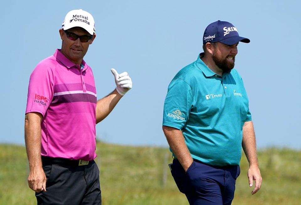 Shane Lowry (right) could leave friend and Ryder Cup captain Padraig Harrington with a tough decision on Sunday (Gareth Fuller/PA) (PA Wire)