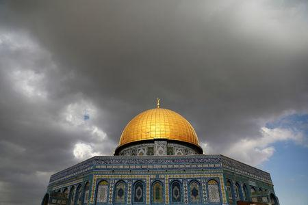 Clouds gather over the Dome of the Rock, located on the compound known to Muslims as Noble Sanctuary and Jews as Temple Mount, in Jerusalem's Old City
